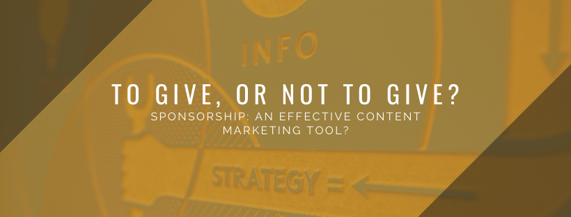 How can sponsorship fit into your content marketing plan?