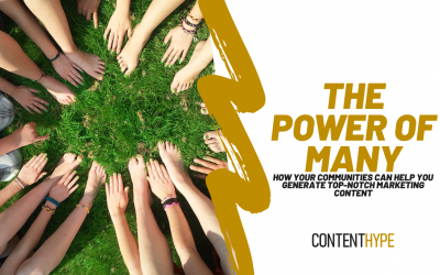 The Power of Many: How your community can help solve your marketing content roadblocks